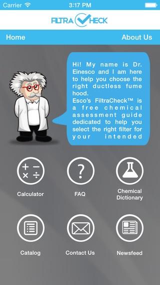 Filtracheck™: La primera aplicación en el mundo para la evaluación química, ahora en Ios